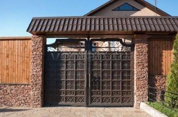 Ворота кованые #022