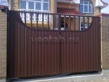 Ворота распашные #012