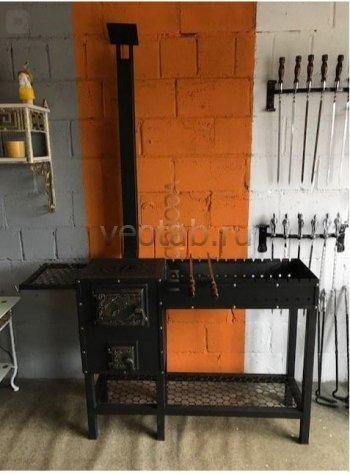 Купить мангал #0124 с печкой под 3-8литров/казан и трубой