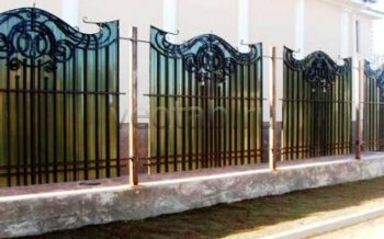Кованый забор #7