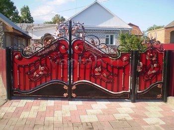 Ворота кованые #9