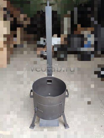 Купить печь #0805-2мм. под казан 8л. с трубой и дверцей