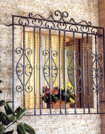 Кованные решетки на окна #1