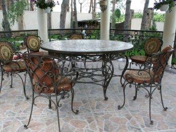 Кованая мебель для дачи #0039