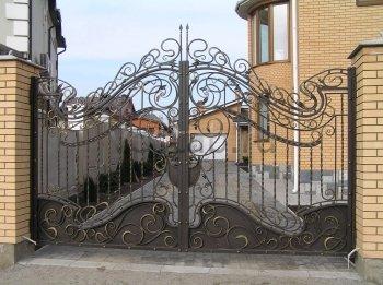 Ворота кованые #041
