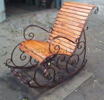 Кованые кресла-качалки #5