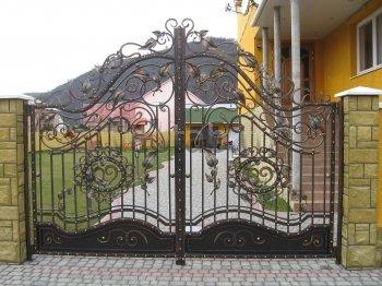 Ворота кованые #008