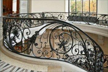 Перила арт.0004 ограждение лестничное/балконное кованое