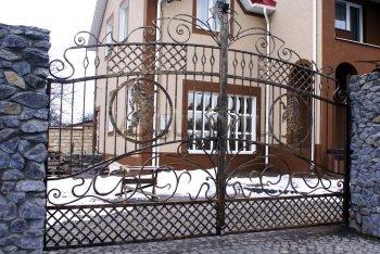 Ворота кованые #003