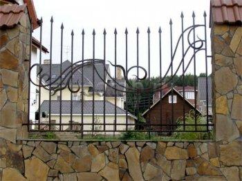 Кованый забор #4
