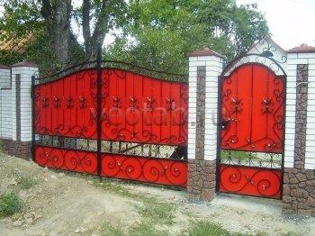 Ворота распашные #001