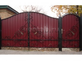 Ворота распашные #003