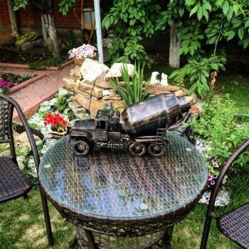 Кованый подарок #004 (виница/минибар в виде строительной техники (миксер) КРАЗ)