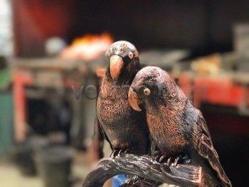 Кованый подарок #025 (попугаи неразлучники)