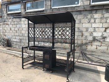 Купить мангал #0133 с печкой под 8-22 литров/казан и трубой, крышей
