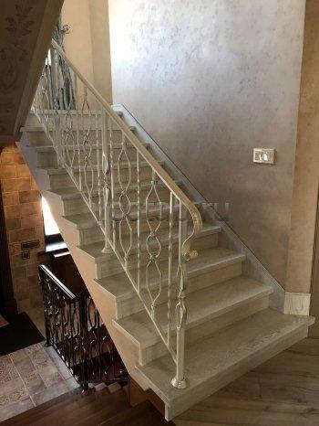 Перила арт.0022 ограждение лестничное/балконное кованое