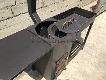 Купить мангал #0132 с печкой под 8-22 литров/казан и трубой