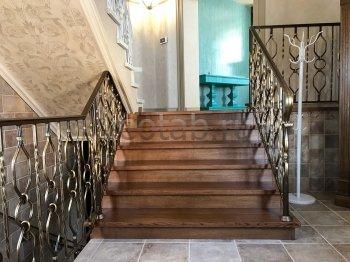 Перила арт.0015 ограждение лестничное/балконное кованое
