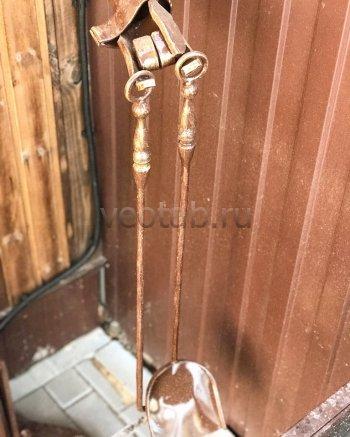 Купить мангал #7002 комплекс мангальный + фонарный столб в виде Англичанина и шарф от столба накрывает мангал