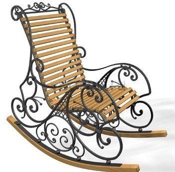 Кованые кресла-качалки #35