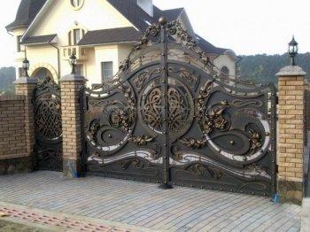 Ворота кованые #028