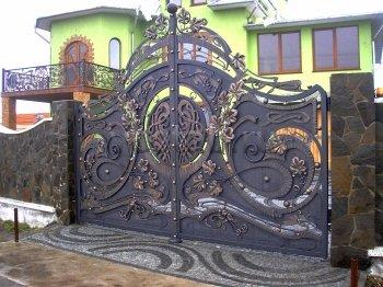 Ворота кованые #031
