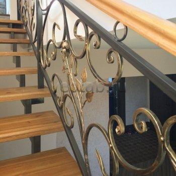 Перила арт.0013 ограждение лестничное/балконное кованое