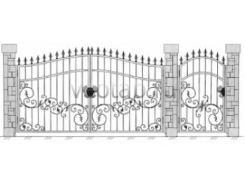 Заборы металлические  и кованые ворота #49