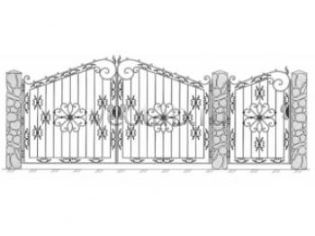 Заборы металлические и кованные ворота #50