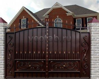 Ворота распашные #021