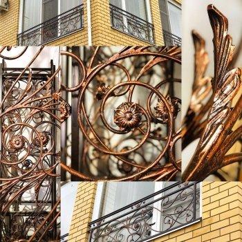 Кованные решетки на окна #10