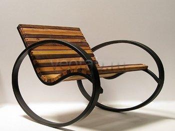 Кованые кресла-качалки #21