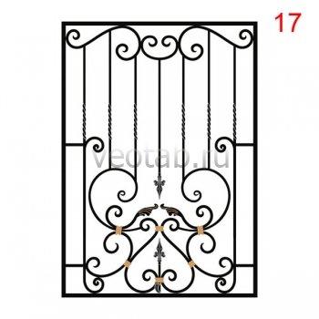 Кованные решетки на окна #27