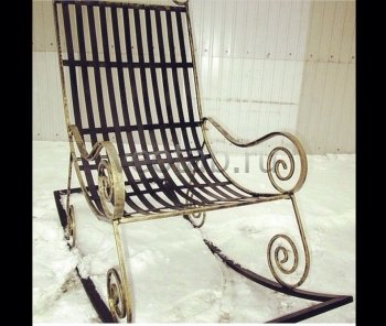 Кованые кресла-качалки #30