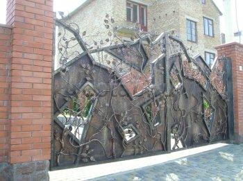 Ворота кованые #25