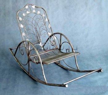 Кованые кресла-качалки #34