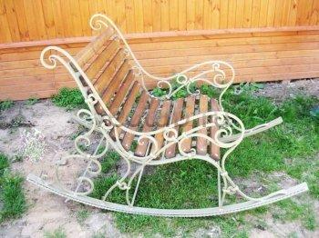 Кованые кресла-качалки #31