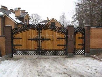 Ворота кованые #076