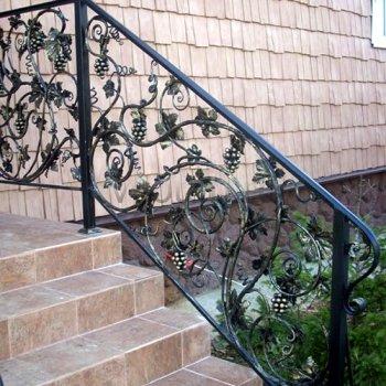 Перила арт.0016 ограждение лестничное/балконное кованое