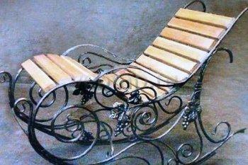 Кованые кресла-качалки #37