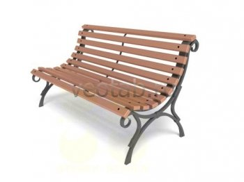 Садовая скамейка #00015
