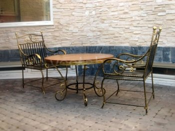 Кованая мебель для дачи #0037