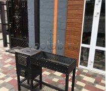 Купить мангал #0124 с печкой под 3-6литров/казан и трубой