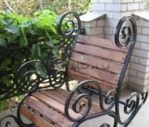 Кованые кресла-качалки #14