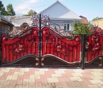 Ворота кованые #009