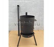 Купить печь #0818-3мм. под казан 6,8л. с трубой и дверцей, с выдвижным зольником
