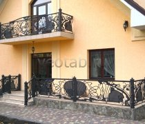 Перила арт.0042 ограждение лестничное/балконное кованое
