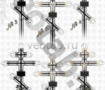 Крест металлический серии #003 (4/10/19/20/21)