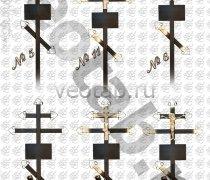 Крест металлический серии #005 (6/11/13/14/15)