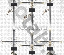 Крест металлический серии #007 (8/12/22/23/24)
